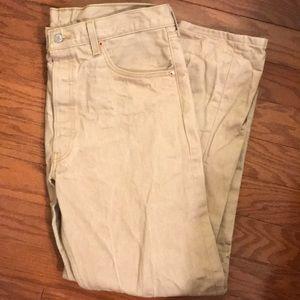 Levi's 501 Starched Khaki Jeans